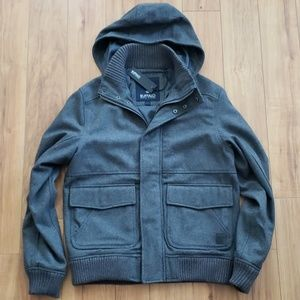 Buffalo David Bitton Hooded Wool Coat